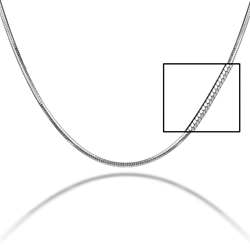 "18"" Diamond Cut Snake Chain Pro Life, abortion, dignity of life"